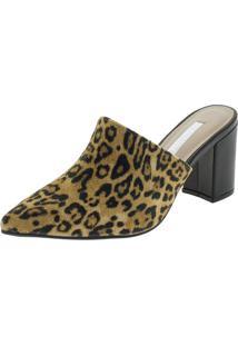 Sapato Feminino Mule Via Marte - 197501 Onça