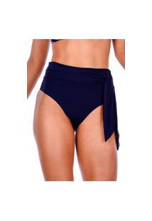 Calcinha Summer Soul Hot Pants De Amarração Azul Marinho