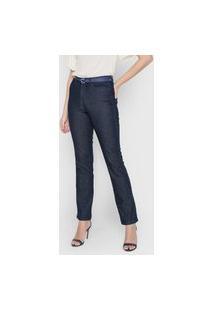 Calça Jeans Hering Reta Lisa Azul-Marinho