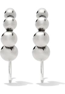 Georg Jensen Par De Brincos Moonlight Grapes - Silver