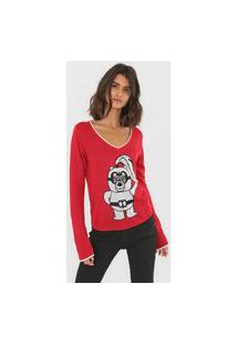 Blusa Carmim Mascote Mica Vermelha