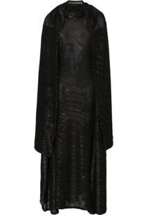 Y/Project Vestido Com Sobreposição Bordado Em Paetês - Preto
