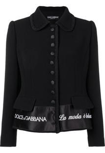 Dolce & Gabbana Blazer 'La Moda À Bellezza' - Preto