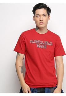 Camiseta T-Shirt Cavalera Masculina - Masculino-Vermelho