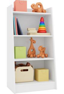 Estante Multiuso 4 Prateleiras Montessori Branco Artinmóveis