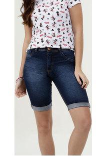 Bermuda Feminina Jeans Barra Dobrada Biotipo