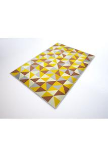 Tapete Saturs Moderno Ladrilho Amarelo 100 X 140 Cm Tapete Para Sala E Quarto