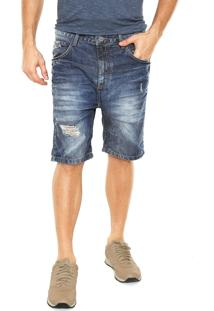 Bermuda Jeans John John Destroeyd Azul