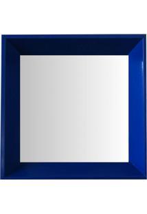Espelho Moldura Madeira Lisa Fundo 16332 Azul Art Shop