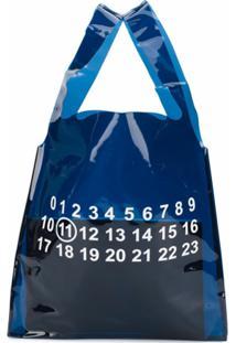 Maison Margiela Bolsa Tote Transparente Estampada - Azul