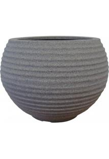 Vaso Para Plantas Redondo Em Polietileno 34 Esfera Latticce 27Cmx23Cm Japi Mármore