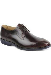 Sapato Social Masculino Derby Polo State - Masculino-Vermelho