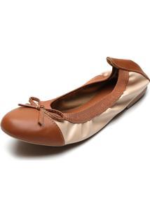 Sapatilha Dafiti Shoes Laã§O Bege/Caramelo - Bege - Feminino - Dafiti