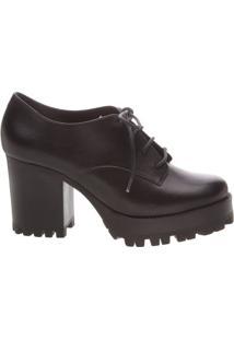 Sapato Oxford Sola Tratorada Black   Schutz