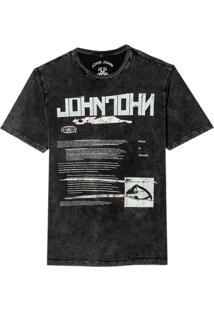Camiseta John John Metal Brushes Masculina (Preto, Pp)