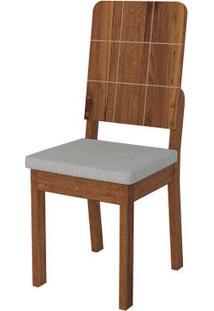 Cadeira Dama 2 Peças - Linho Claro - Rústico Terrara
