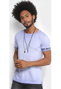 Camiseta Dimy Estonada Masculina - Masculino-Azul