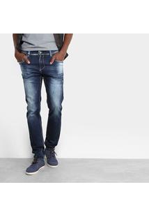 Calça Jeans Skinny Sawary Estonada Elastano Masculina - Masculino-Jeans