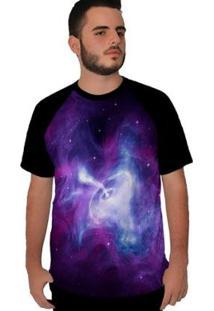Camiseta Stompy Raglan Purple Sky Masculina - Masculino-Preto