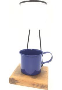 Kit De Café Egoista Individual 1 Caneca Azul Demolição Feito A Mão -Silvana Vannucci