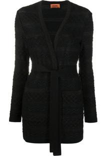 Missoni Textured Knit Cardigan - Preto