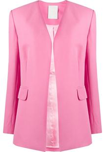 Seen Users Blazer Com Abertura Frontal - Rosa
