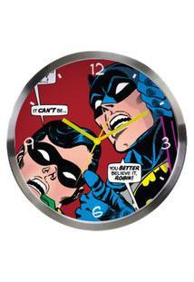 Relógio De Parede De Metal - Dc Comics - Batman E Robin Olhando Para Cima - Metrópole