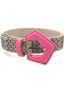 Cinto Birô Detalhe Textura - Feminino-Pink