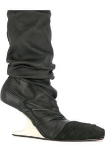 Rick Owens Bota Plataforma - Preto