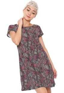 Vestido Gola Redonda Malwee feminino  420f1234ce529