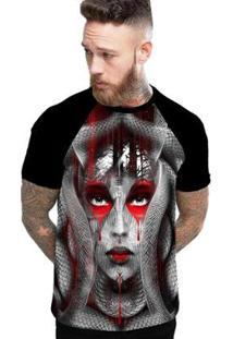 Camiseta Stompy Raglan Modelo 66 Masculina - Masculino-Preto
