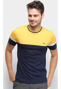 Camiseta Lacoste Bicolor Masculina - Masculino-Marinho