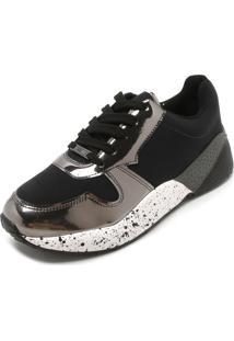 777d2b5655 ... Tênis Vizzano Dad Sneaker Chunky Preto Cinza