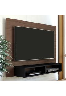 Painel Para Tv Até 42 Polegadas Flash Amendoa/Preto - Artely