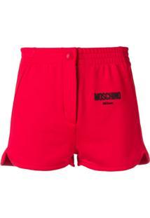 Moschino Short Com Logo - Vermelho