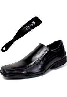 Sapato Social Ranster San Cley Couro Preto Calçadeira