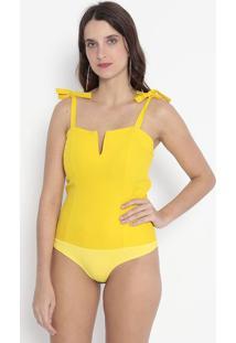 Body Com Amarrações - Amarelo - Kilometro Quadradokm2