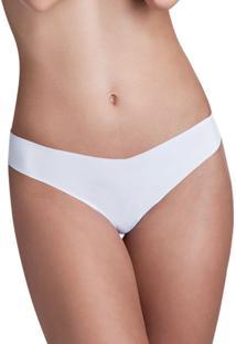 Calcinha Fio Dental Sem Costura Branco Make   406.021