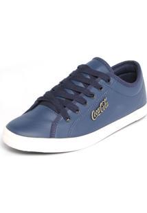 Sapatênis Coca Cola Shoes Tag Azul-Marinho