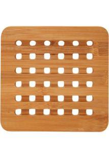 Descanso De Panela Le Bambu Quadrado 16X16X1Cm Unica