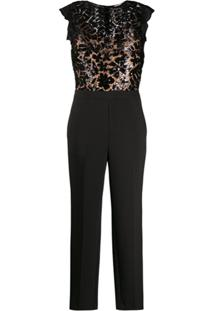 Michael Michael Kors Sequinned Top Jumpsuit - Preto