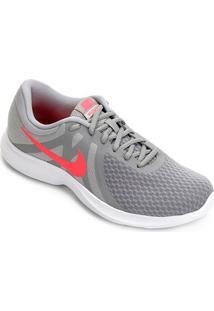 Tênis Nike Revolution 4 Feminino - Feminino-Cinza+Vermelho