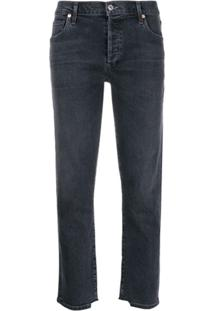 Citizens Of Humanity Distressed Cuffs Cropped Jeans - Cinza