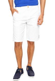 Bermuda Redley Sarja Clássica Branca