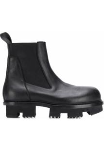 Rick Owens Ankle Boot Clássica - Preto