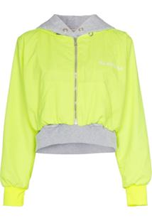 Natasha Zinko Double Layered Hooded Cotton Blend Jacket - Amarelo