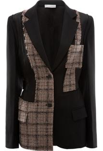 Jw Anderson Patchwork Tailored Jacket - Preto