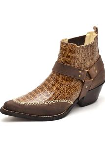 Bota Top Franca Shoes Country Caramelo