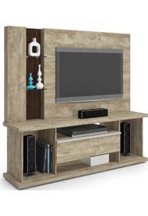 Estante Home Theater Para Tv Até 55 Pol. Onix Rovere/Noce - Lukaliam Móveis