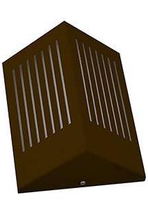 Arandela Triangular C Rasgo Horizontal 6134 (12X09X23Cm) 1 Lâmpada Café - Pantoja&Carmona